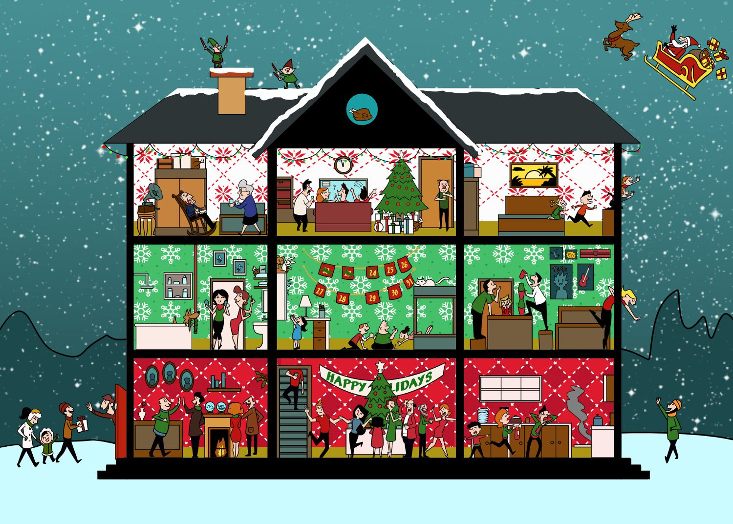 Can You Find All The Turkeys In This Christmas Scene