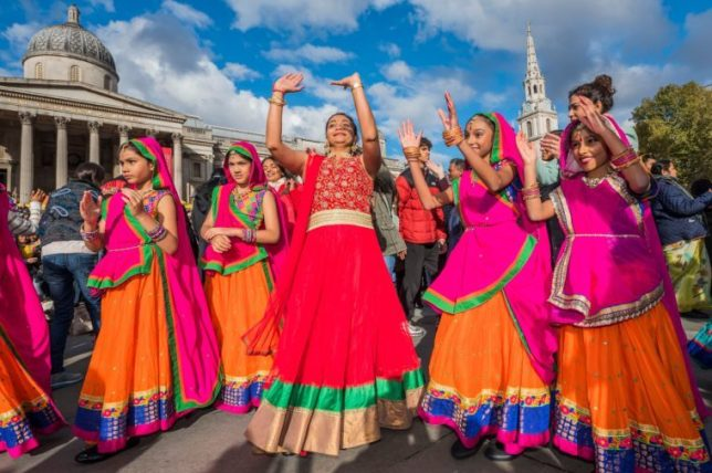 Diwali festival, Trafalgar Square, London, UK - 28 Oct 2018