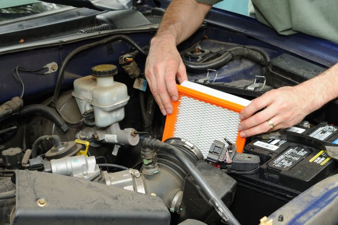 Change your car's cabin air filter.