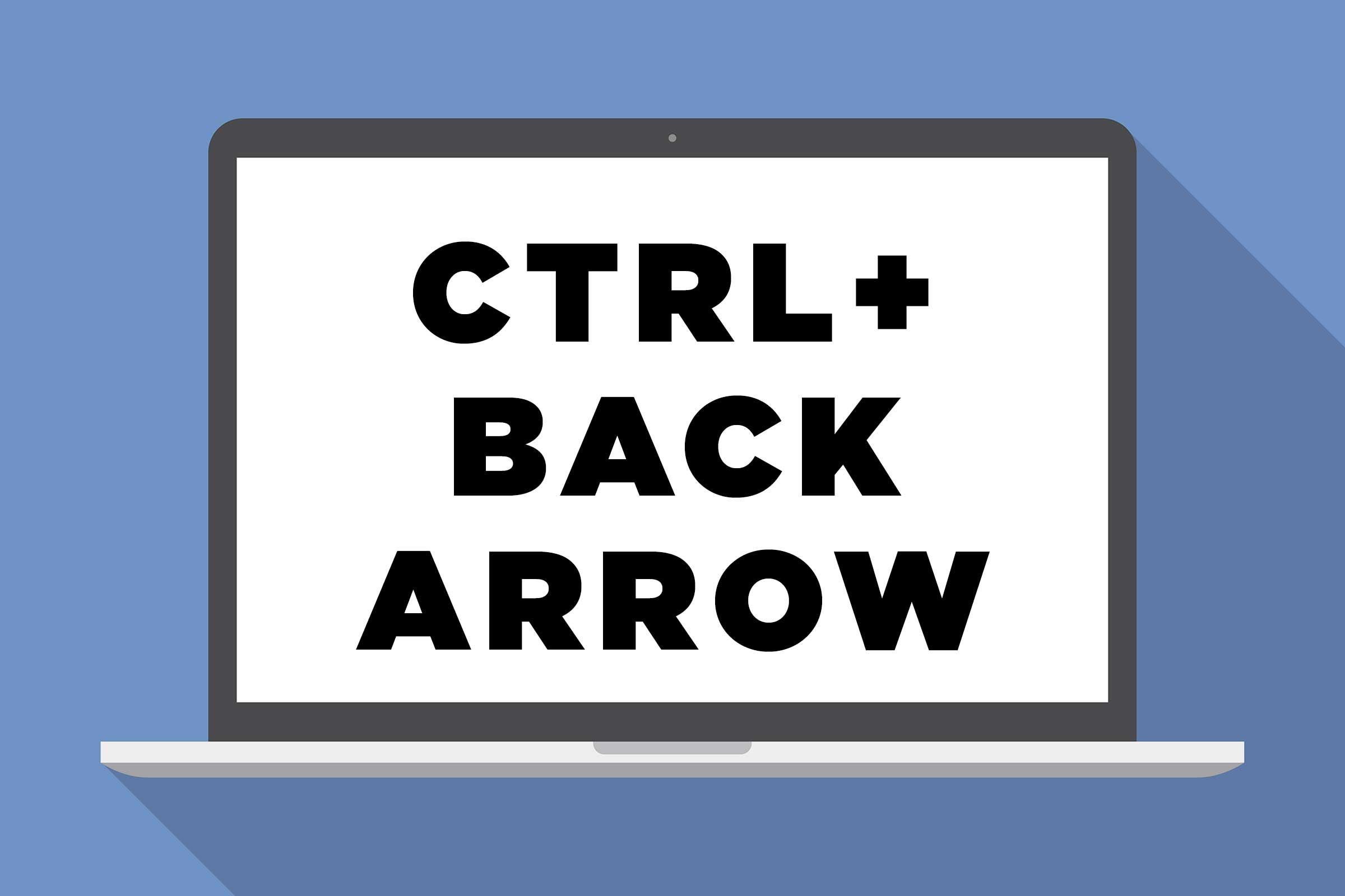 CTRL + back arrow: Go back one page in your browsing history