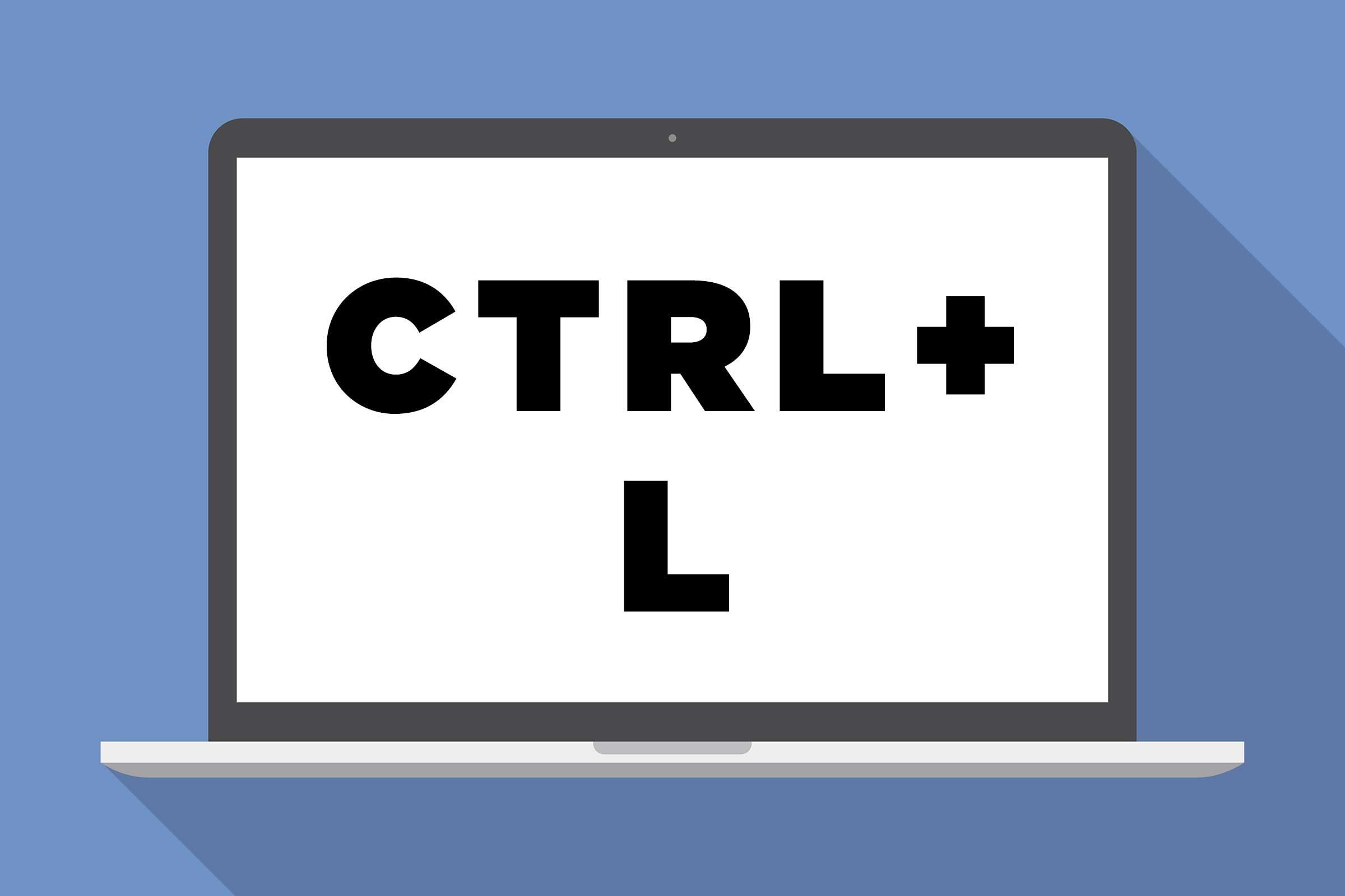 CTRL + L: Move the cursor to the URL bar