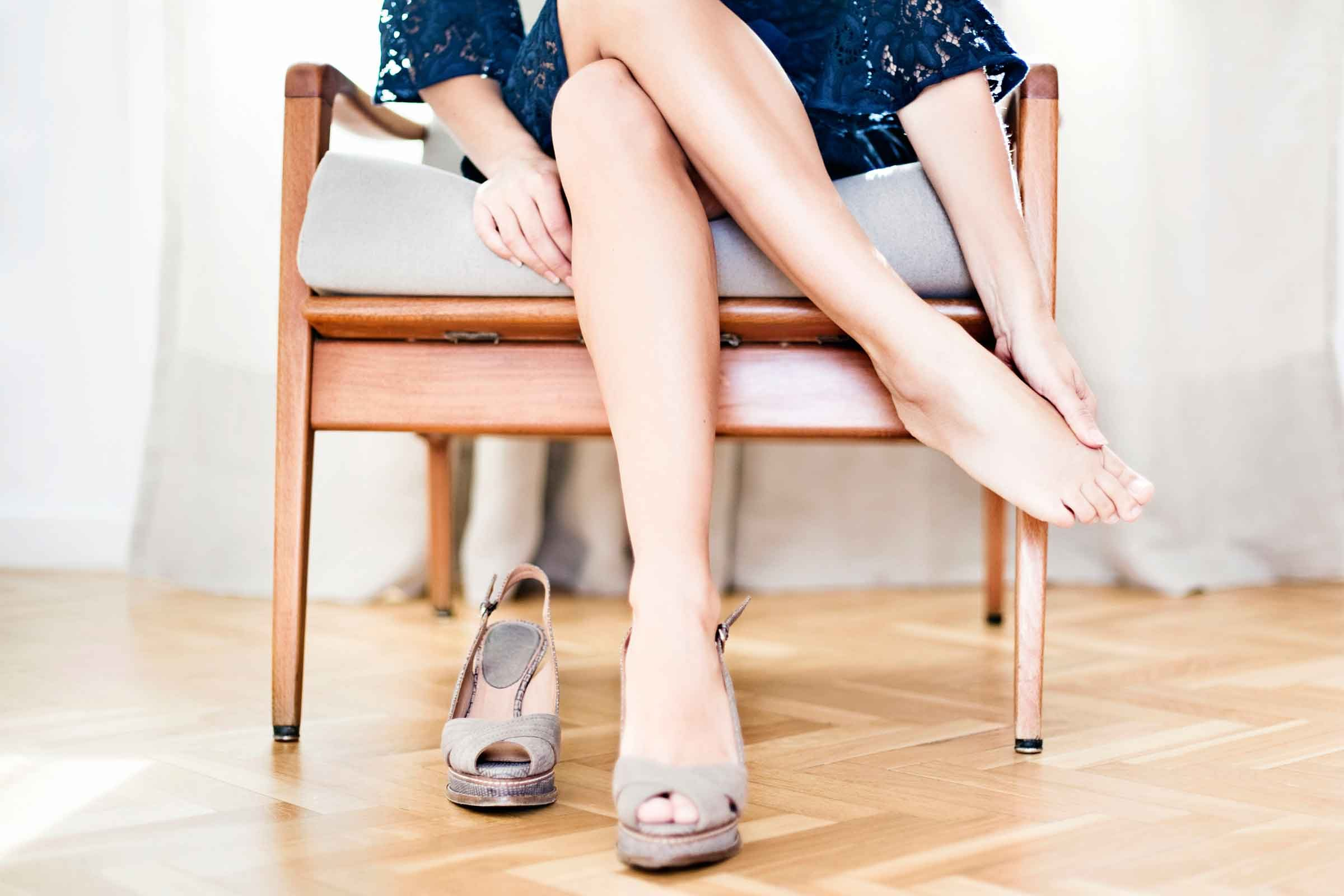 High heels can cause plantar fasciitis in the heel and arch of your foot