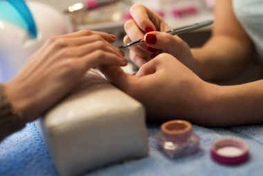 How To Do Gel Nails At Home Wipe Off The Tacky Or Inhibition