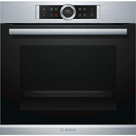 MULTIFUNCTION PIROLYTIC OVEN ST STEEL AND BLACK GLASS SERIE 8 BOSCH HBG673BS1F