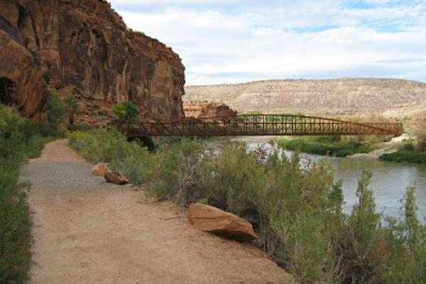 This puzzlingly well-constructed pedestrian bridge marked the beginning and end of the retreat (again, not my photo).