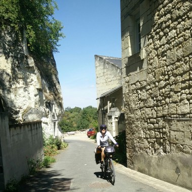 Loire-a-velo often winds through steep hills in historic towns.