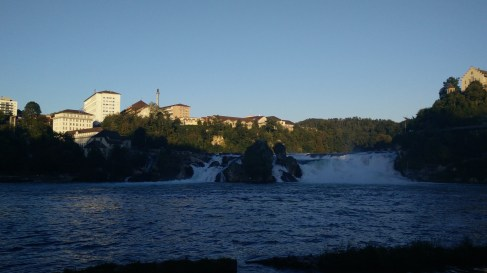 Rhinefall, the largest waterfall in Eurpope, just before sunset as I rushed to reach a campsite.