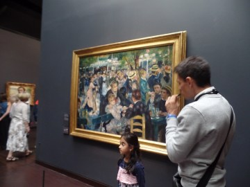Our guide in front of a Manet painting (right?)