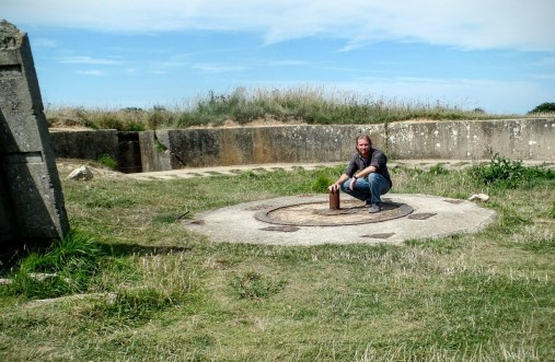Myself in a bombed-out bunker.