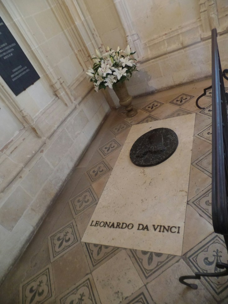 Leonardo Da Vinci's grave in the fort at Amboise