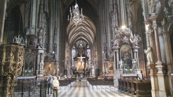 St. Peter's Church in Vienna. Very impressive, and tons of character, although a bit disturbing and creepy.