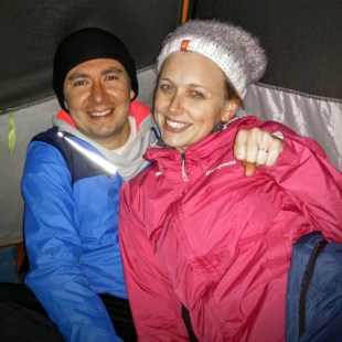 A couple I was sharing a tent with on the volcano got engaged that night.