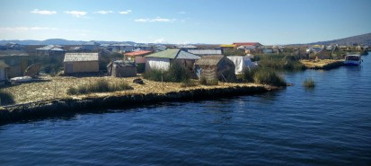 The floating islands of the Uru people.