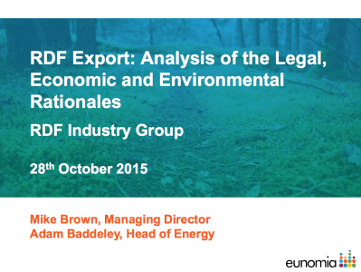 RDF Export: Analysis of the Legal, Economic and Environmental Rationales cover