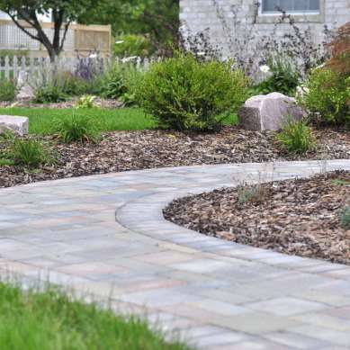 Meandering Walkway with Planting Beds