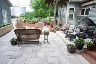 patio and walkway for hot tub 3