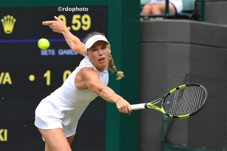Caroline Wozniacki a Wimbledon - foto di Roberto Dell'Olivo