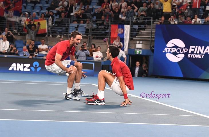 Victor Troicki e Novak Djokovic ATP CUP 2020 Sydney - foto di Roberto Dell'Olivo