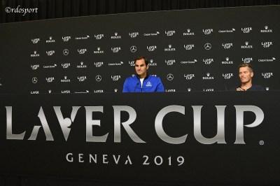Roger Federer e Thomas Eqnuist - Team Europe - Laver Cup 2019 Ginevra
