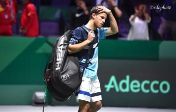 Diego Schwartzman (Team Argentina) esce dalla Caja Magica - Davis Cup Madrid 2019