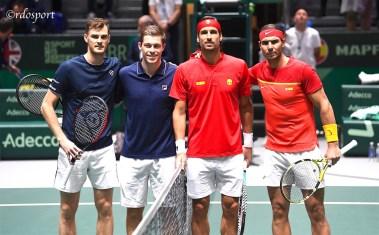 Jamie Murray e Neal Skupski (TEAM GB) - Feliciano Lopez e Rafael Nadal (Team Spagna) Davis Cup Madrid 2019