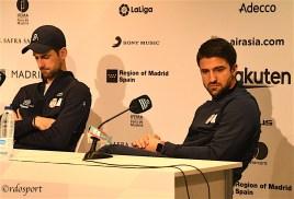 Novak Djokovic e Janko Tipsarevic - Team Serbia - Conferenza stampa Davis Cup Madrid 2019