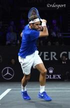Roger Federer - Team Europe - Laver Cup 2019 Ginevra - foto di Roberto Dell'Olivo