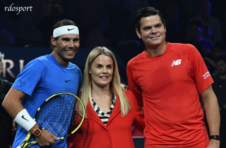 Roger Federer e Milos Raonic Laver cup 2019