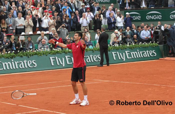 Novak Djokovic finale Roland Garros 2016 (foto di Roberto Dell'Olivo)