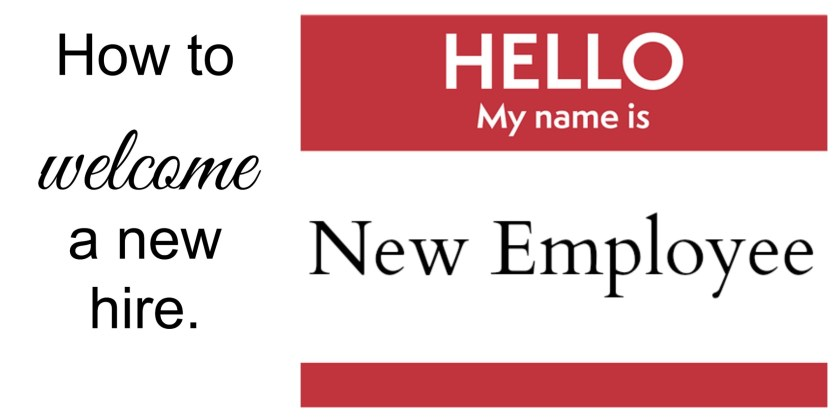 How to welcome a new hire
