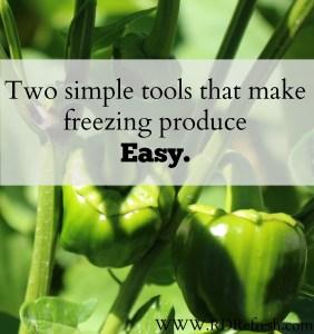 Tools that make freezing produce Easy