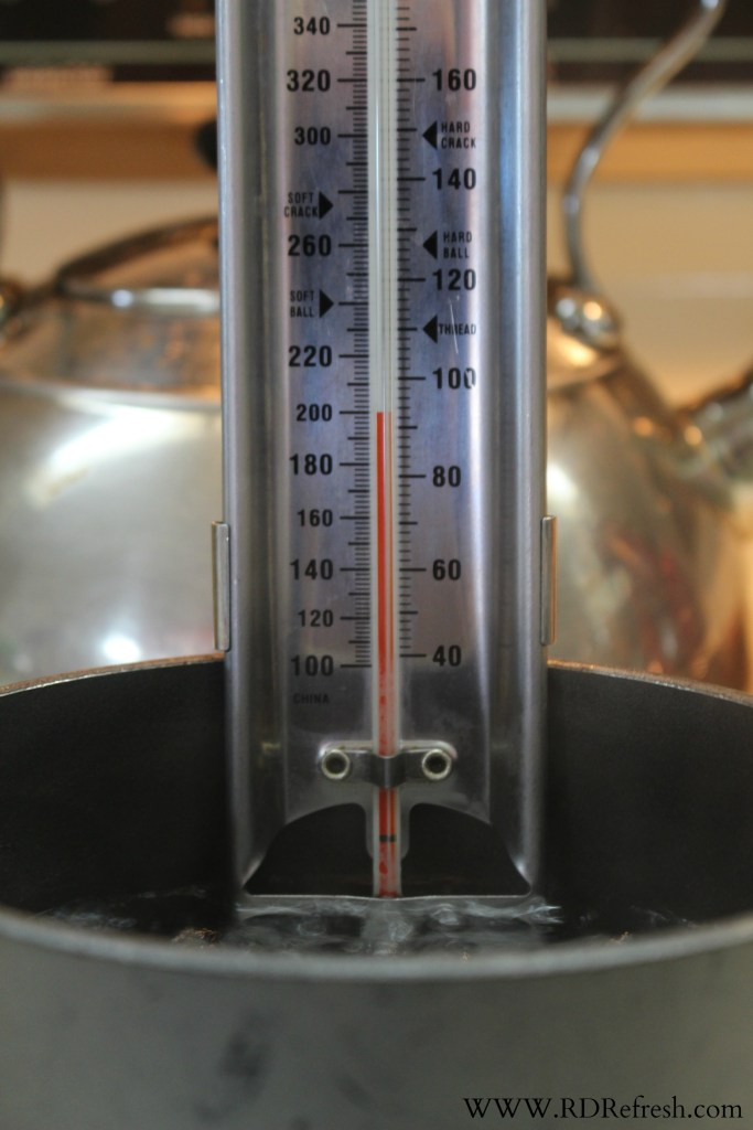Testing my candy thermometer