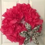 Easy DIY Tissue Paper Wreath