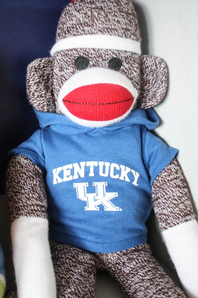 Little Boy's Americana Bedroom- Kentucky sock monkey