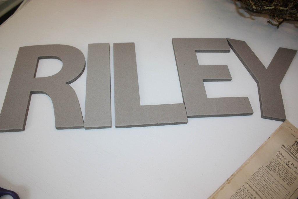 Chipboard Letters