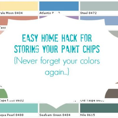 Easy Home Hack for Storing your Paint Chips