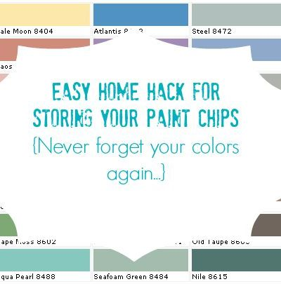 Paint chip home hack