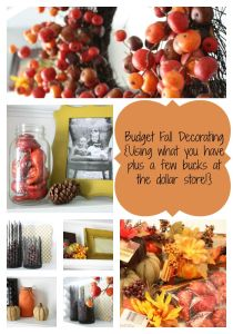 Budget Fall Decorating