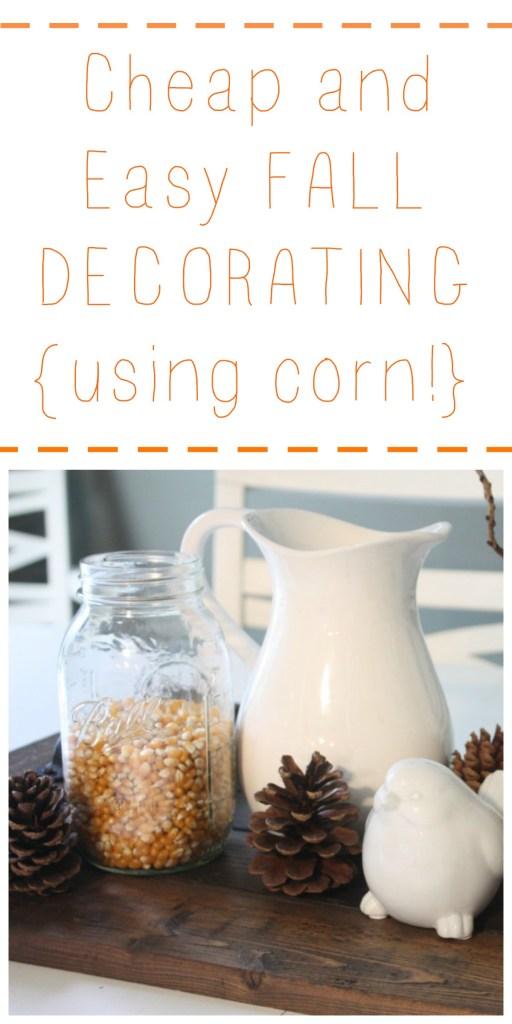 Fall Corn Decorating