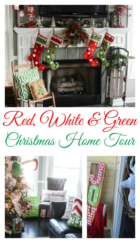 Red, White and GreenChristmas Home Tour