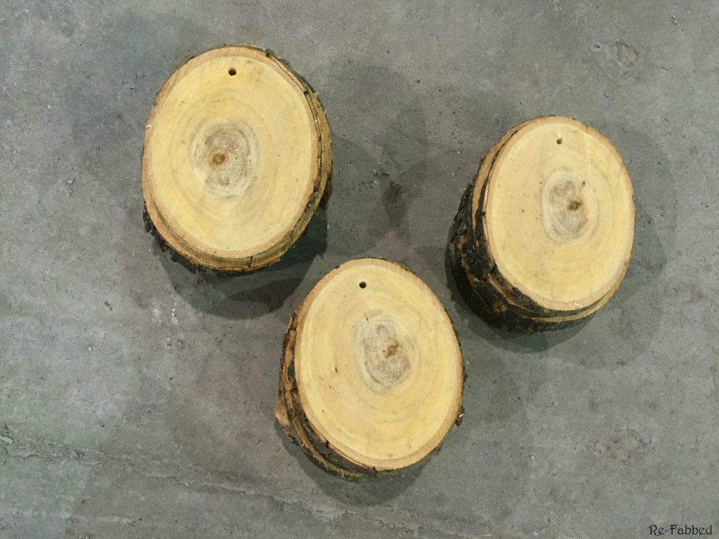 DIY Wood Slice Ormanent