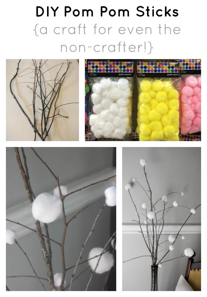 DIY Pom Pom Sticks