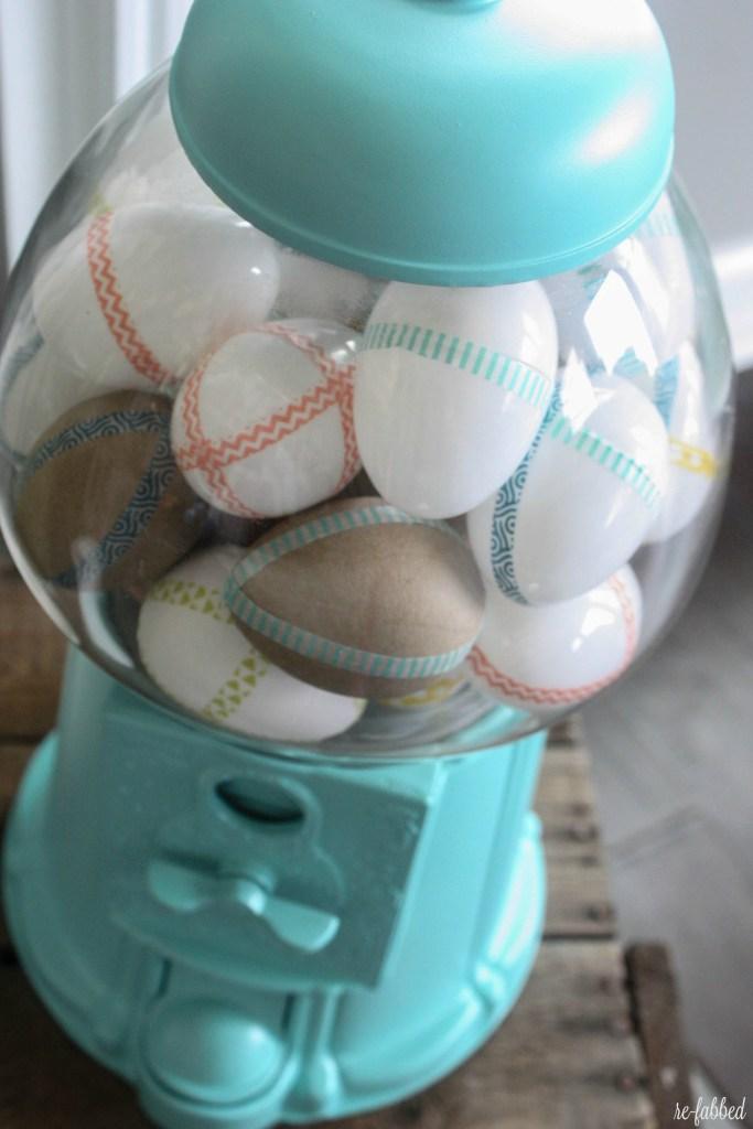 Washi Tape Eggs and Gumball Machine