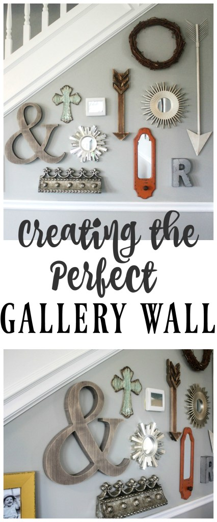 Create the perfect gallery wall by using items you already have in your own home! Pull things together and have FUN creating a unique and fun wall that you can change up as often as you want!