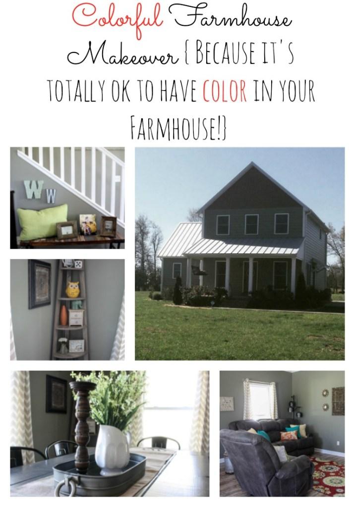 Colorful Farmhouse Makeover