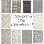 10 Beautiful Gray Rugs {For under $200}