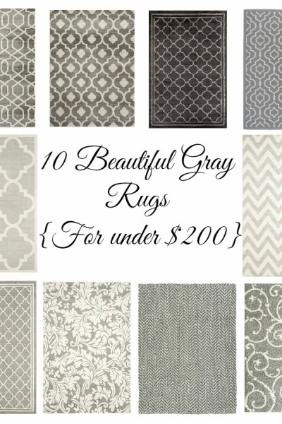 10 Beautiful Gray Rugs under $200