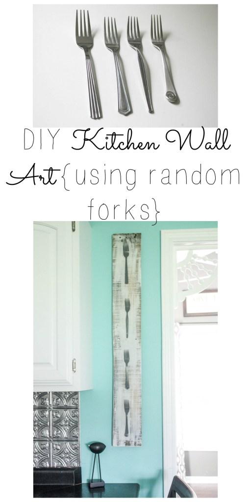 Assorted Fork Wall Art Pinterest Image