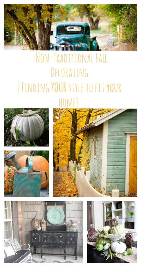 Non Traditional Fall Decorating