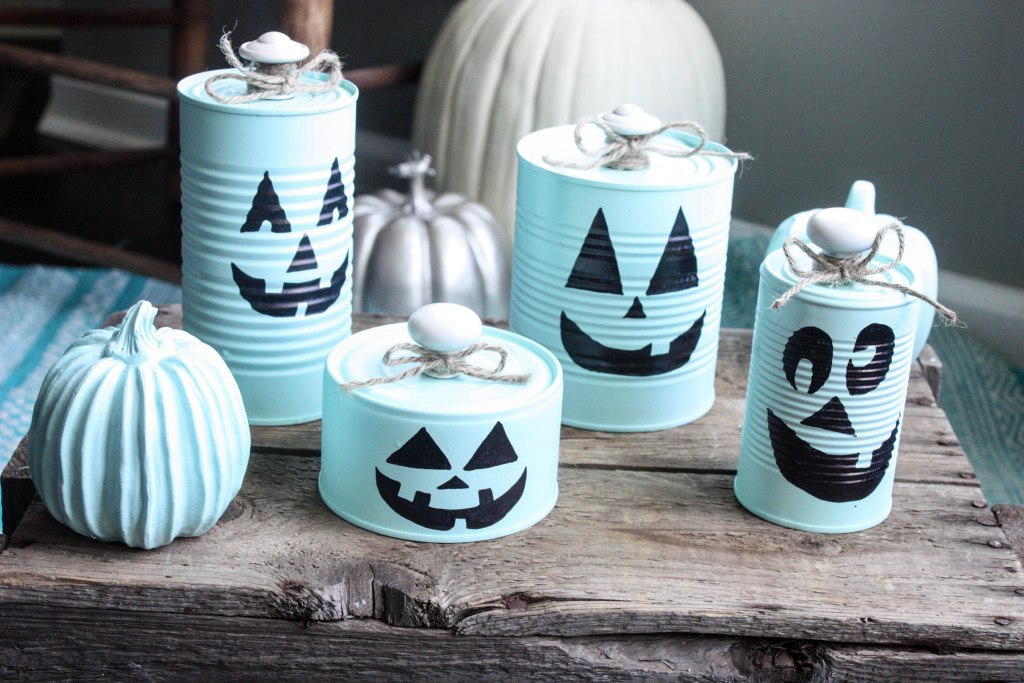 How to make Tin Can Pumpkins for Halloween!